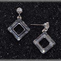 Boucles d'oreille losange cristal