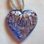 Pendentif Coeur cristal de bohême Bleue Claire 2