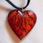 Pendentif Coeur cristal de bohême Rouge