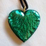 Pendentif Coeur cristal de bohême Vert