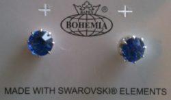 Boucles d'oreille bleu