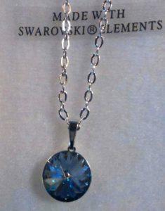 collier cristal swarovski lentille grise 002