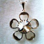 pendentif fleur cristal web 17