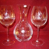 service gourmet cristal de bohême