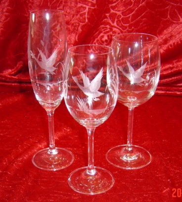 Verres cristal de bohême