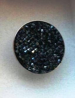 Bague petits cristaux swarovski Noir