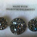 bracelet cristal de boheme - cristaux swarovski 3 ronds cristal argent 1