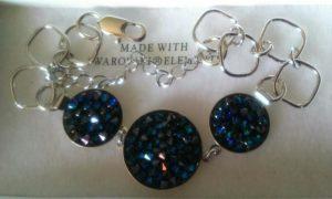 bracelet cristal de boheme - cristaux swarovski 3 ronds noir 2 (2)