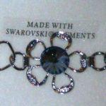 bracellet cristal swarovski fleur gris