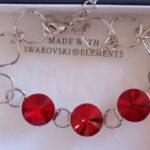 Bracelet cristal 3 lentilles rouge 3