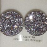 Bracelet cristal rigide 2 ronds cristaux de swarovski