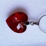 pendentif COEUR rouge cristal de swarovski 4